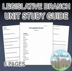 Legislative Branch Unit Study Guide  Government