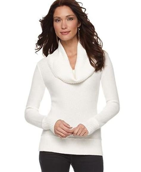 white cowl neck sweater white cowl neck fitted sweater