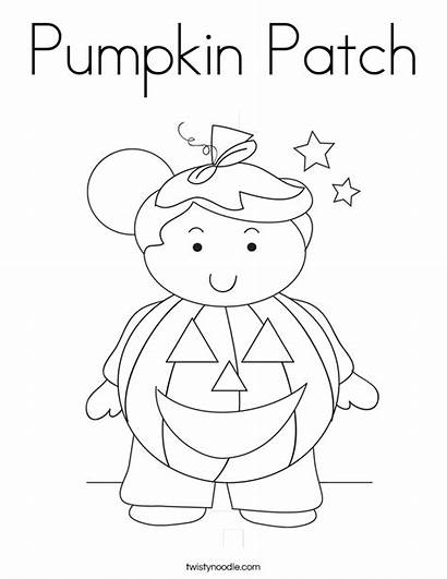 Pumpkin Coloring Patch Boy Pages Halloween Twistynoodle
