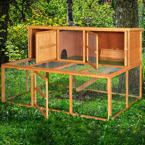 a rabbit hutch home roost 6ft kendal rabbit hutch and run