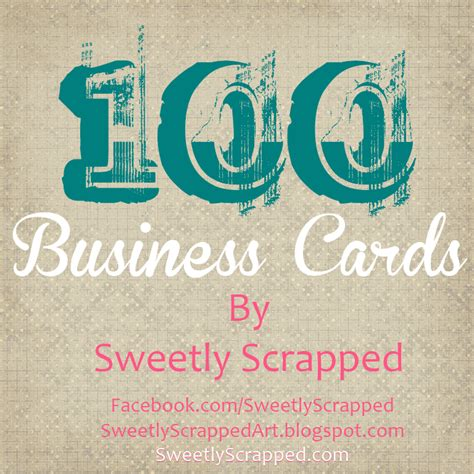 free printable business card sweetly scrapped 100 free printable business cards