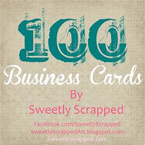 Sweetly scrapped 100 free printable business cards for Free business cards printable