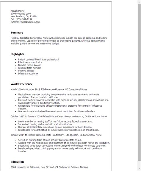 Correctional Nurse Resume Template — Best Design & Tips. Resume Objective For Bank Job. Entry Level Certified Nursing Assistant Resume. Great Looking Resume. Internships On Resume