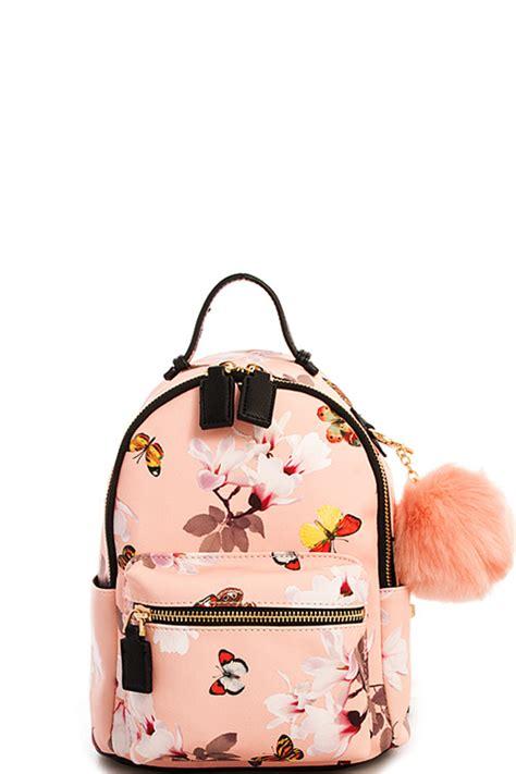 tp blush cute mini chic pompom backpack