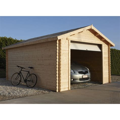 Porte De Garage En Bois Prix by Garage Bois 1 Voiture 16 91 M 178 Leroy Merlin
