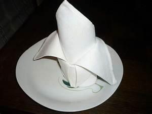 Pliage De Serviette En Tissu : pliage de serviette tissu wn71 jornalagora ~ Nature-et-papiers.com Idées de Décoration