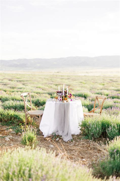 Lavender Field Wedding Purple Wedding Ideas 100 Layer Cake