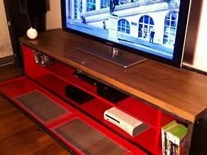 Meuble Tv Casier Industriel : ancien vestiaire deviendra meuble tv industriel meuble tv casier vestiaire meuble pinterest ~ Nature-et-papiers.com Idées de Décoration