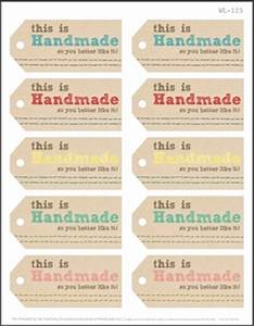 75 free printable labels make it handmade With handmade for you labels