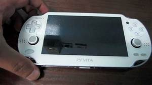 White Sony PSVITA unboxing - YouTube