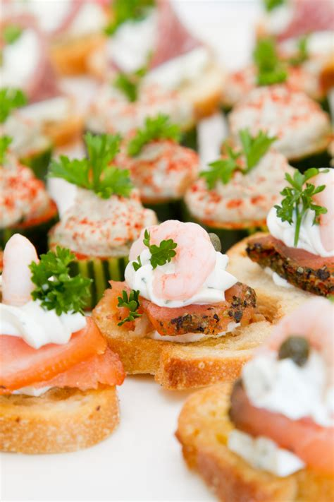 canape appetizer salmon canapes recipe dishmaps