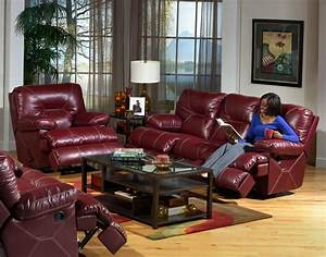 cortez 2 piece dual reclining sofa set in dark red leather With dark red leather sectional sofa