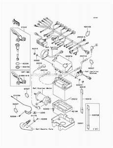 Kawasaki Jt1100-f1 1100 Stx Di Parts List And Diagram