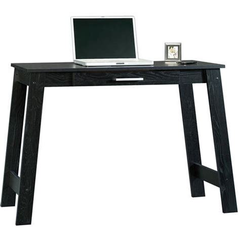 mainstays computer desk black silver finish desks walmart