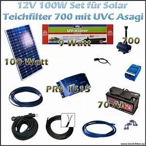 Solar Inselanlage Berechnen : 100w 12v set f r solar teichfilter mit uv und teichpumpe 700 asagi ~ Themetempest.com Abrechnung
