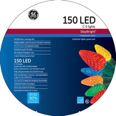 ge staybright led c5 multi color lights 150