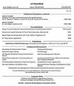 Curriculum vitae for dentists for Dental hygienist resume template free
