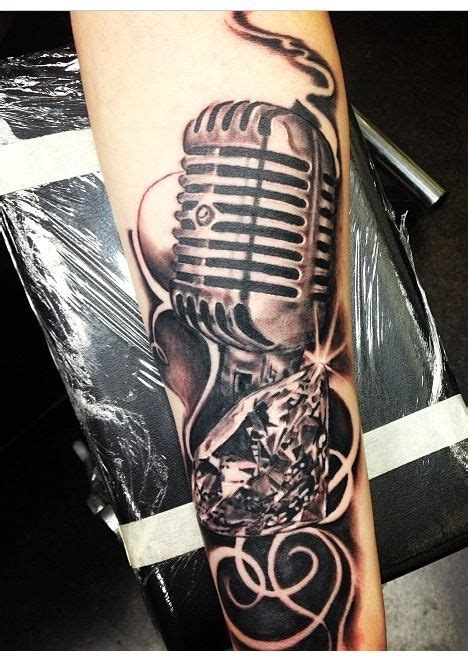 ideas  microphone tattoo  pinterest mic
