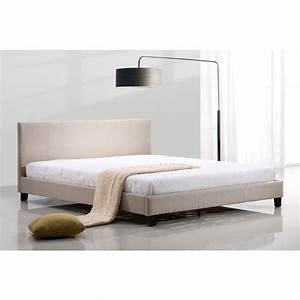 King Size Palermo Linen Bed Frame in Beige | Buy King Size ...