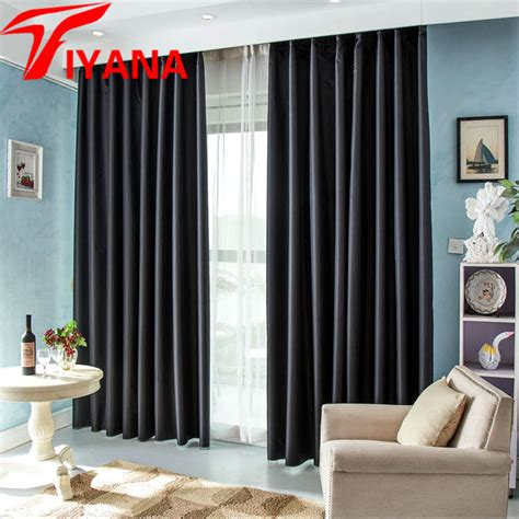 europe modern solid blackout curtains for bedroom luxury