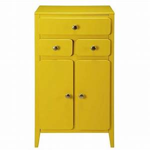 meuble d39entree 2 portes 3 tiroirs jaune moutarde With meuble jaune moutarde