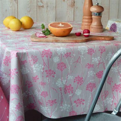 nappe de cuisine nappe enduite herbes taupe anti tache et imperméable