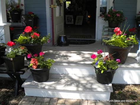 front porch plants porch steps porch stairs