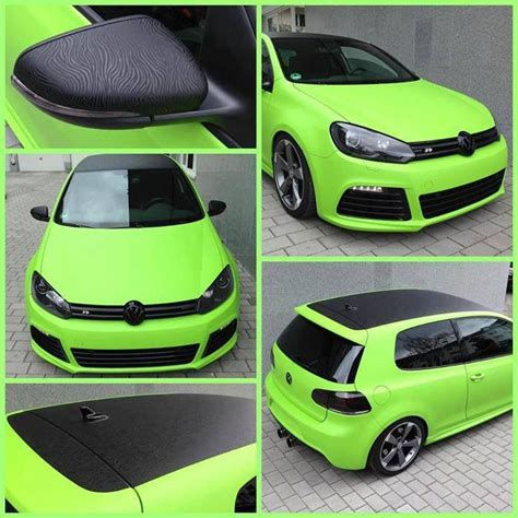 Vw R Lime Green / Black Texture R
