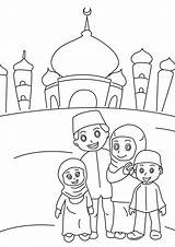 Pages Ramadan Colouring Muslim Coloring Islamic Islam Printable Sheet Intheplayroom Sheets Ramadhan Children Poster sketch template