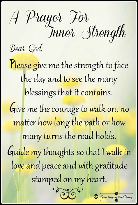prayer   strength ramblings   claury