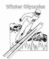 Ski Kleurplaten Coloriage Skieen Dibujos Esqui Skifahren Sport Skiing Dessin Coloriages Ausmalbilder Deporte Kleurplaat Coloring Fun Dibujo Quotidienne Vie Springen sketch template