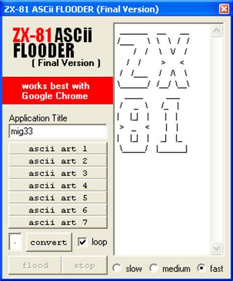 ascii or html version of your resume zx 81 ascii flooder version