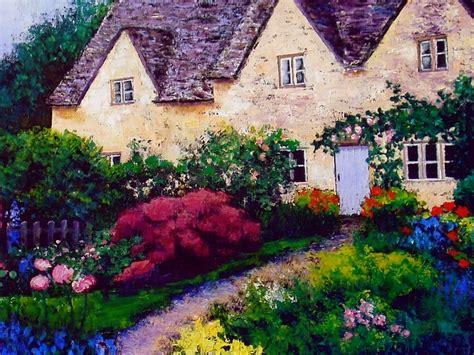 country cottage wallpaper country garden wallpaper wallpapersafari