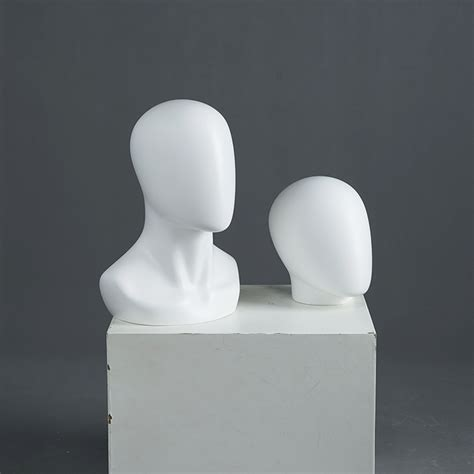 Hot sale mannequin heads no face mannequin display matte ...