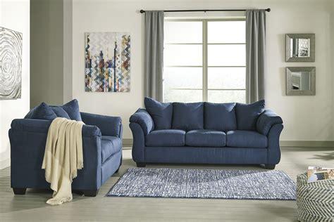 majik darcy blue sofa  loveseat rent