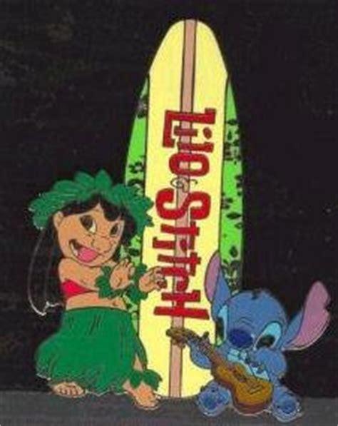lilo  stitch  logo surfboard pin   pins