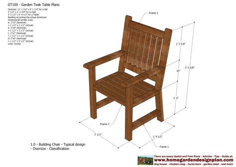 woodworking chairs plans