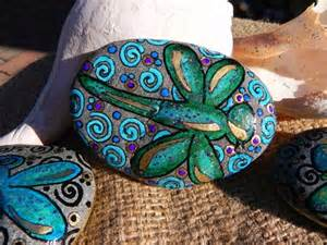 Dragonfly Painted Rock Stone
