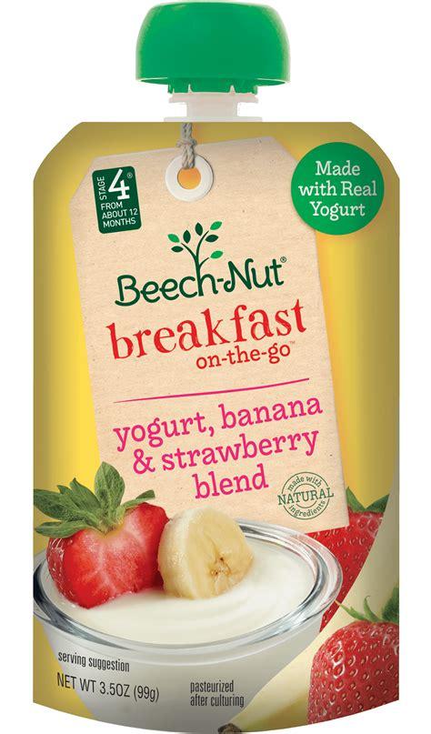 yogurt banana  strawberry blend breakfast