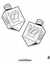 Dreidel Coloring Hanukkah Pages Printable Drawing Play Hellokids Games Comments sketch template