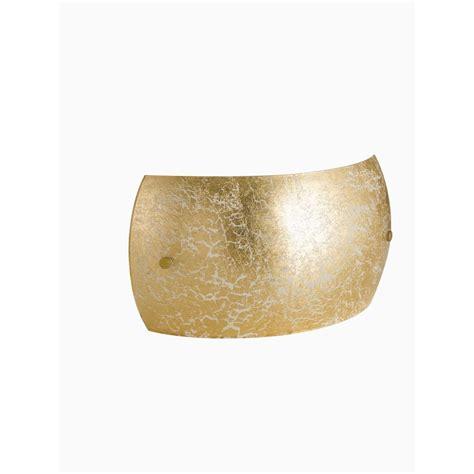 Applique Foglia Oro applique in vetro con foglia oro moderno a 2 coll fa