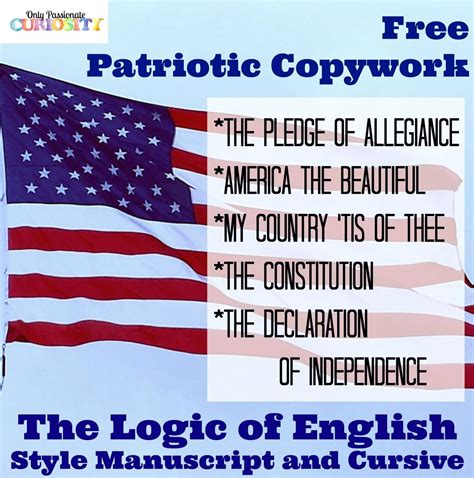 patriotic copywork logic  english style