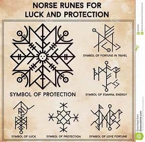 Futhark Runes Magic Symbols Vector Set. - Download From ...