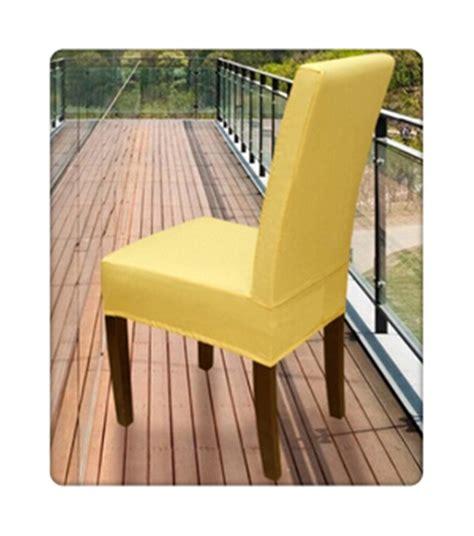 100pcs spandex surefit dining chair cover housse de chaise de banquet yellow in chair