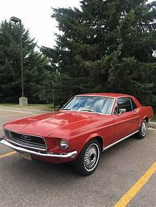 Candy Apple Red 1968 Ford Mustang hardtop V8 For Sale - MustangCarPlace