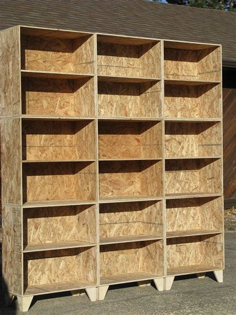 modular osb bookshelf unfinished     etsy