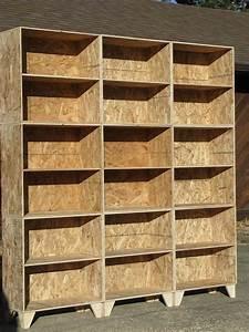modular osb bookshelf unfinished 3 by 3 via Etsy