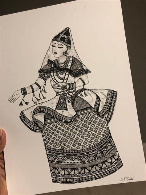 manipuri dancer art print etsy dancers art mandala design art doodle art designs