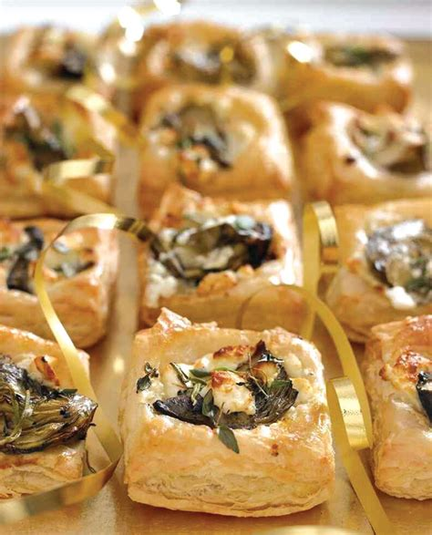indian canape feta and artichoke canapes vegetarian recipe