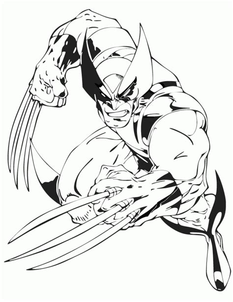 wolverine coloring pages  kids ddpa